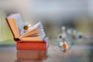 flower in book