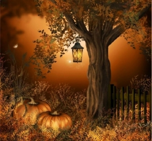 pumpkins-and-tree